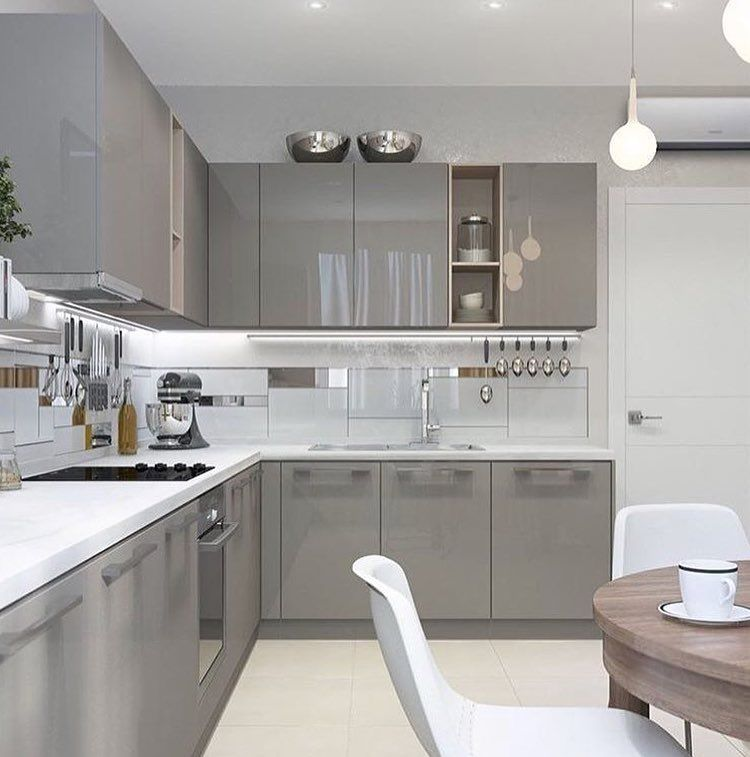 I liked the colour combination.. grey and white. | Home in ...