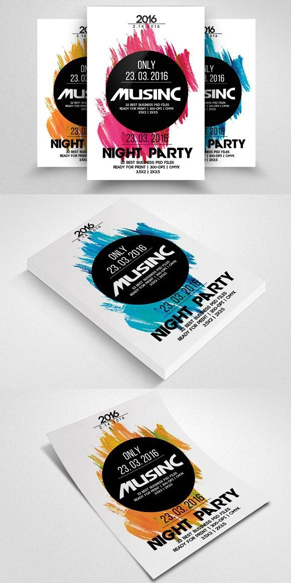 Latest Electro Flyer Template | Card templates, Gift voucher design ...