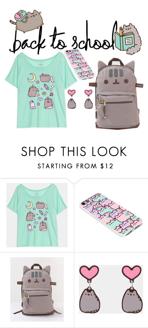 """#PVxPusheen"" by dearunique ❤ liked on Polyvore featuring Pusheen, contestentry and PVxPusheen"