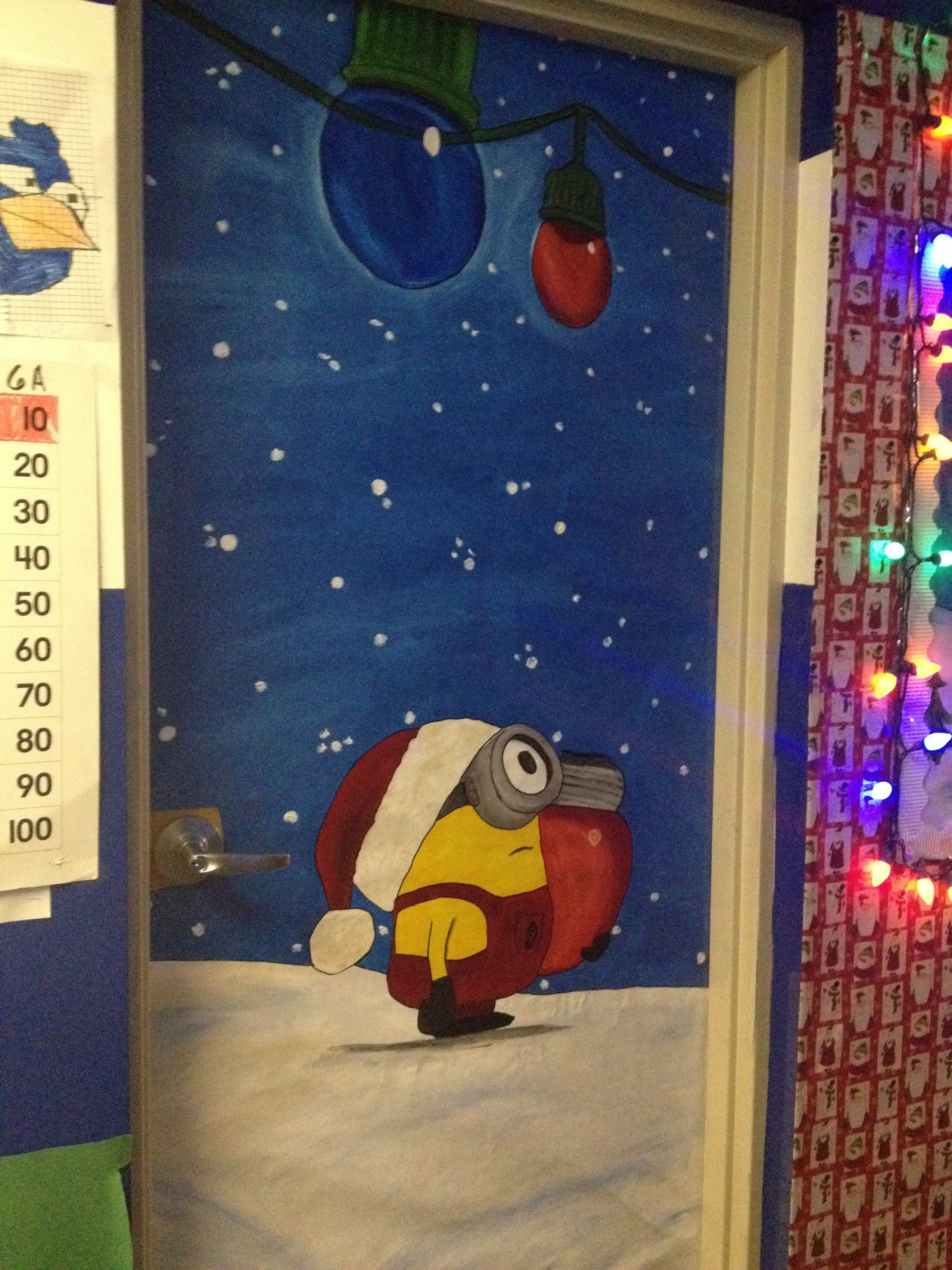 Despicable Me Christmas Christmas Classroom Door Holiday