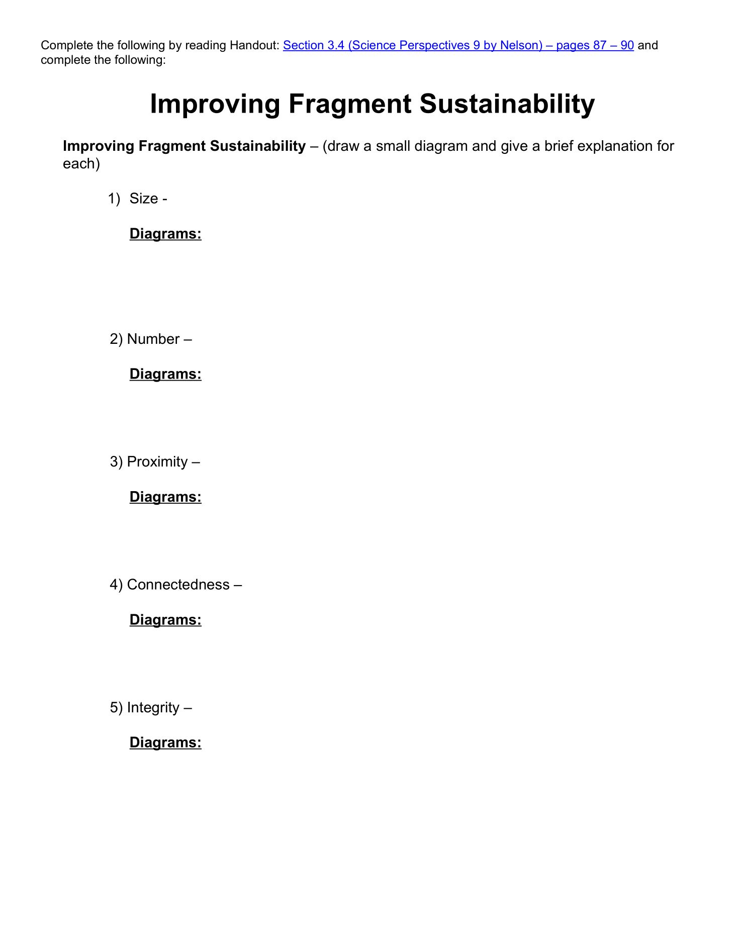 Improving Fragment Sustainability