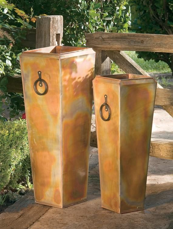 H Potter Tall Large Planter, Outdoor Indoor, Rustic Finish, Patio, Deck, Garden, Flower Planters, Se
