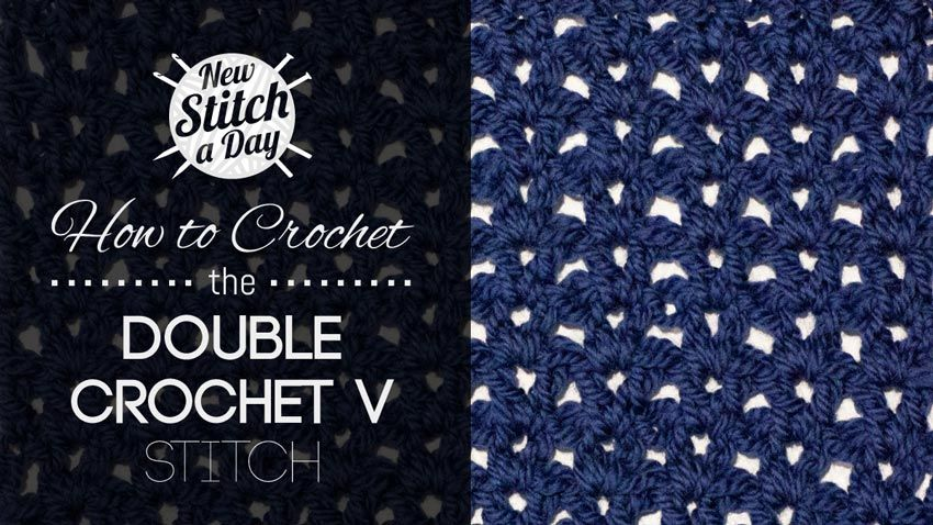 How To Crochet The Double Crochet V Stitchthis Simple Crochet