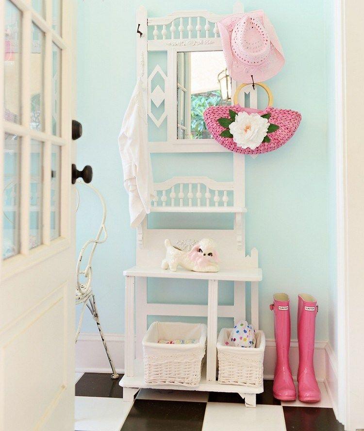 id e d co entr e maison de style shabby chic avec peinture. Black Bedroom Furniture Sets. Home Design Ideas