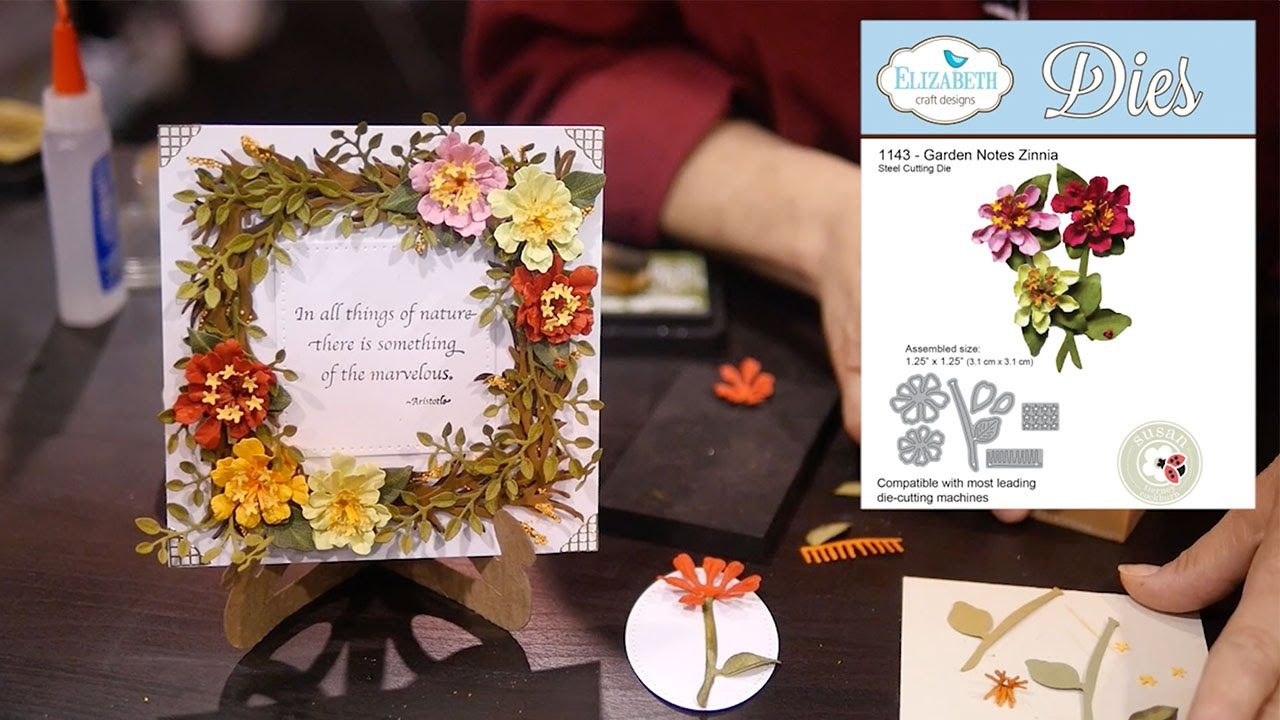 Elizabeth Craft Designs Susan S Garden Club Garden Notes Zinnia