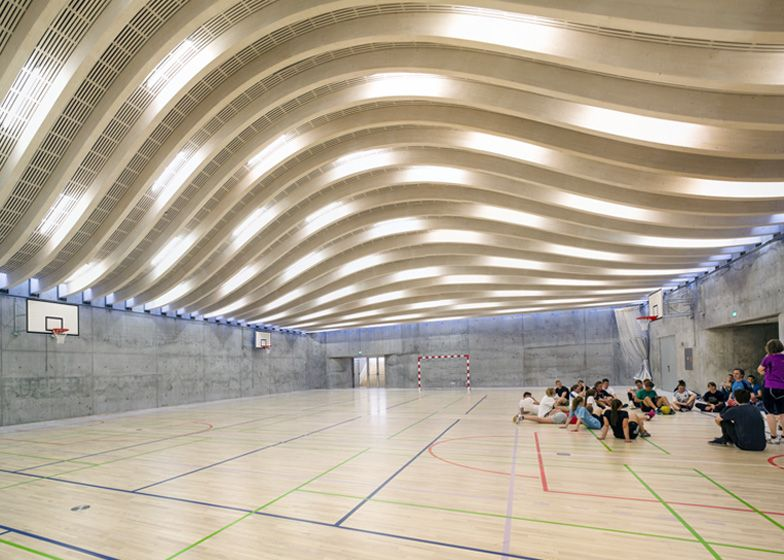 Gammel hellerup sports hall by danish architectural firm - Interior design schools in atlanta ...