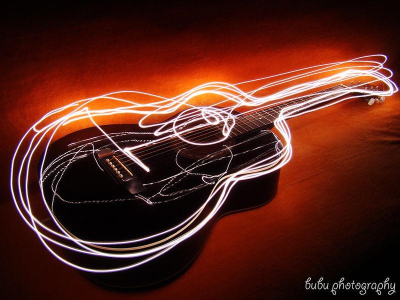 Guitar Light Painting 2 By Bogdanici Painting Fotos
