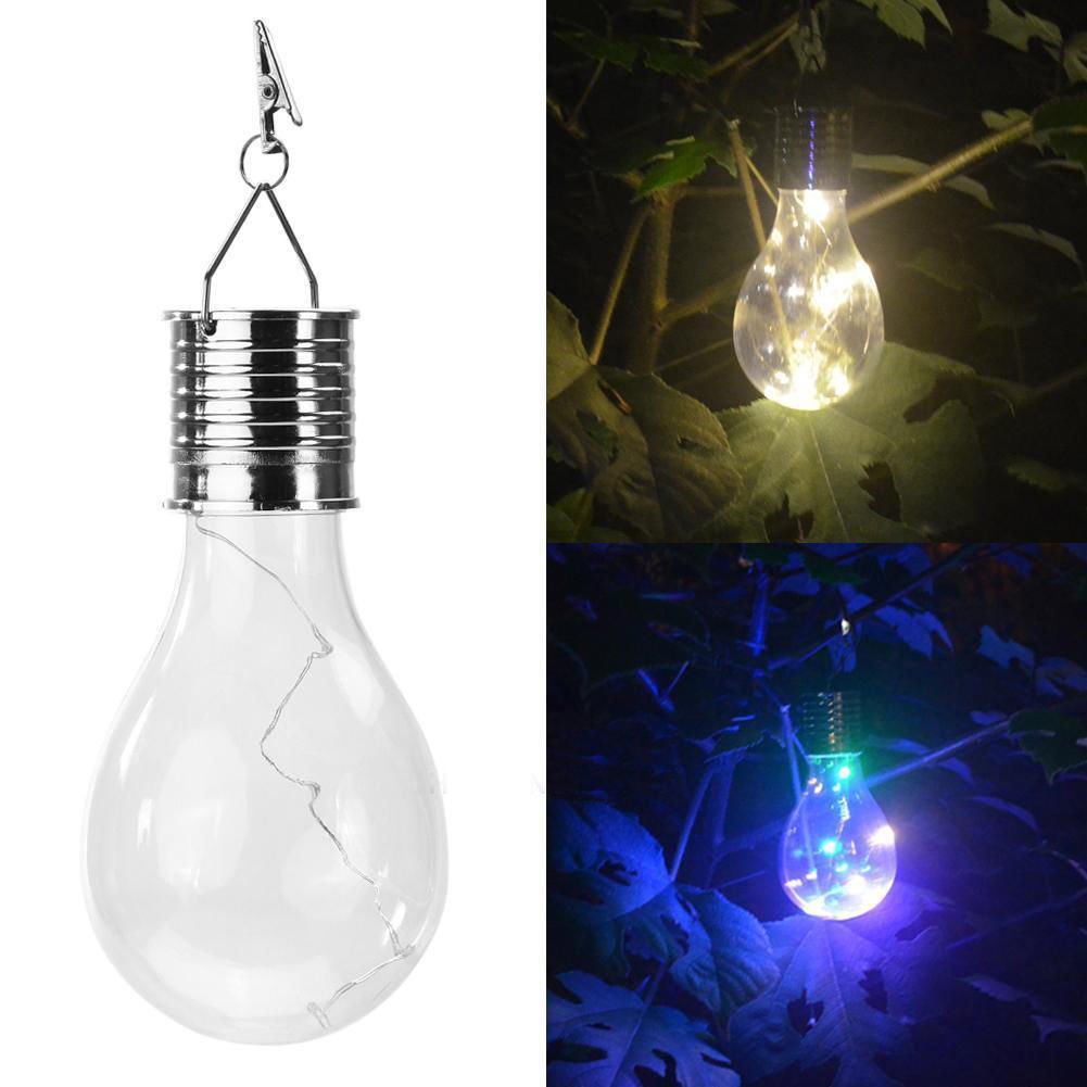 4 34 Solar Powered Light Bulb Hanging Led Lightbulb Lantern By