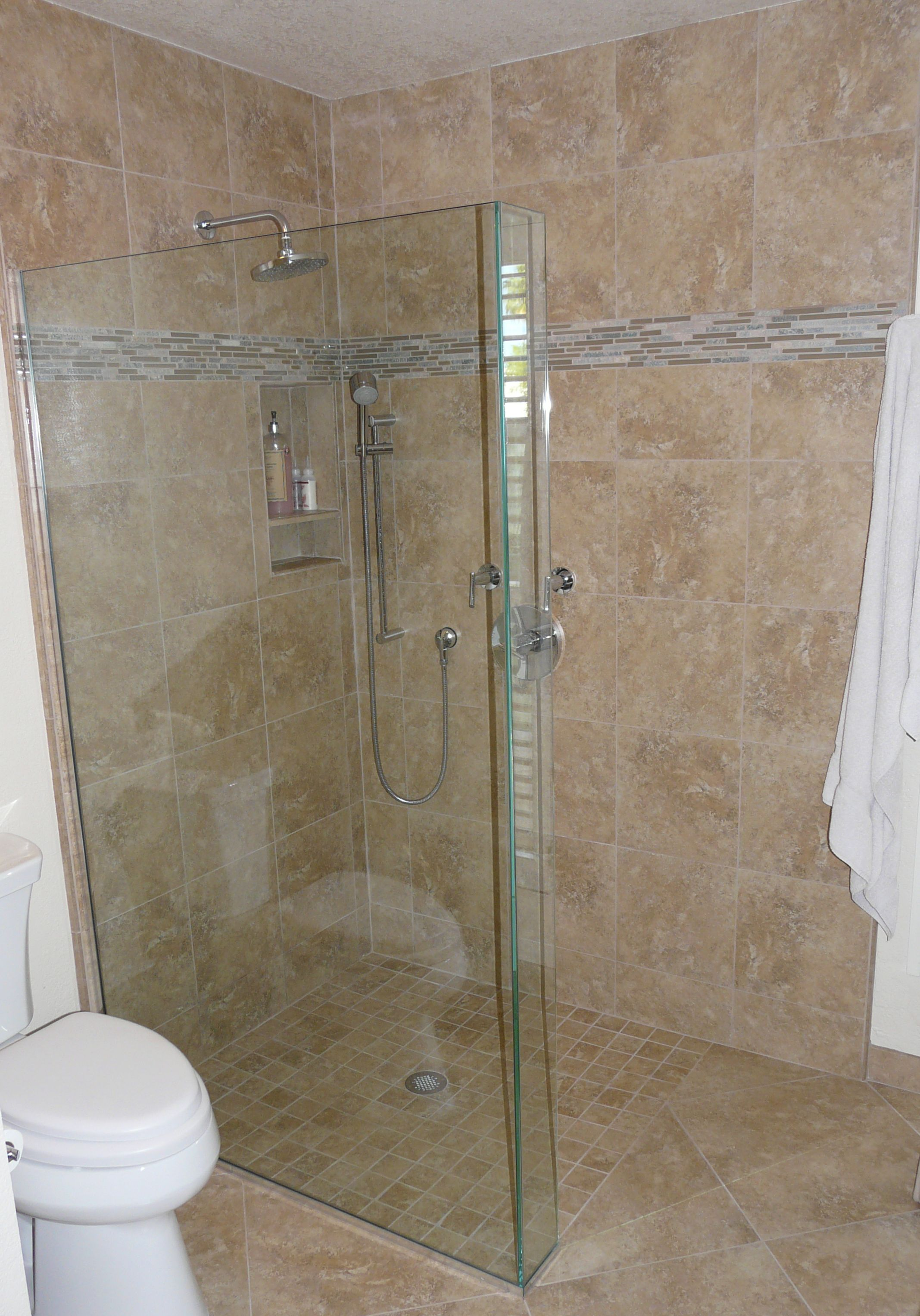 Bathroom Zero Time Dilemma master bath remodel with curbless shower pan and frameless glass
