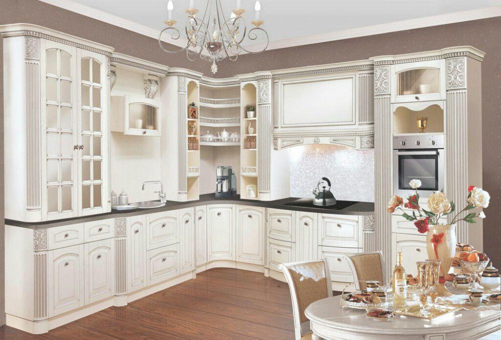 Luxury Roman Column Kitchen Cabinet