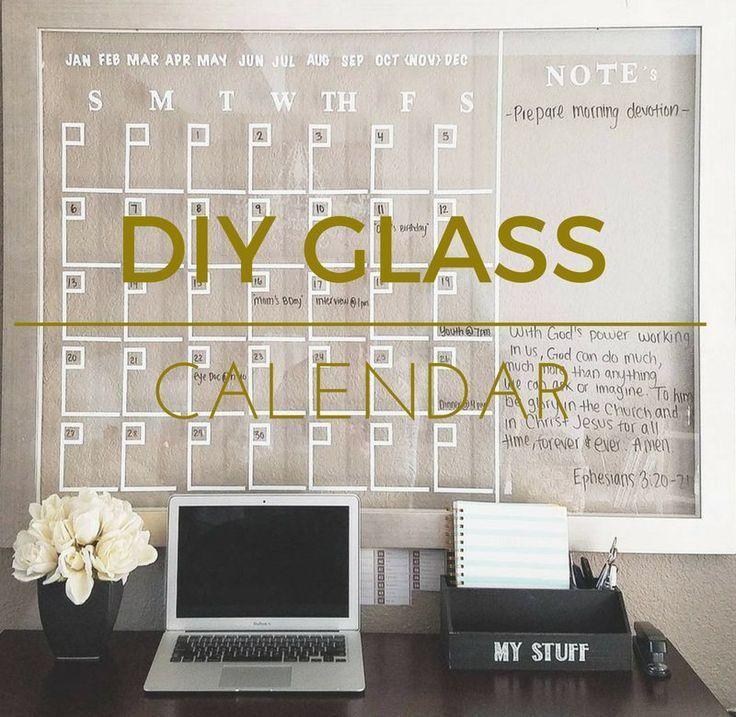 How to make a DIY glass calendar Easy  Budget friendly / Home