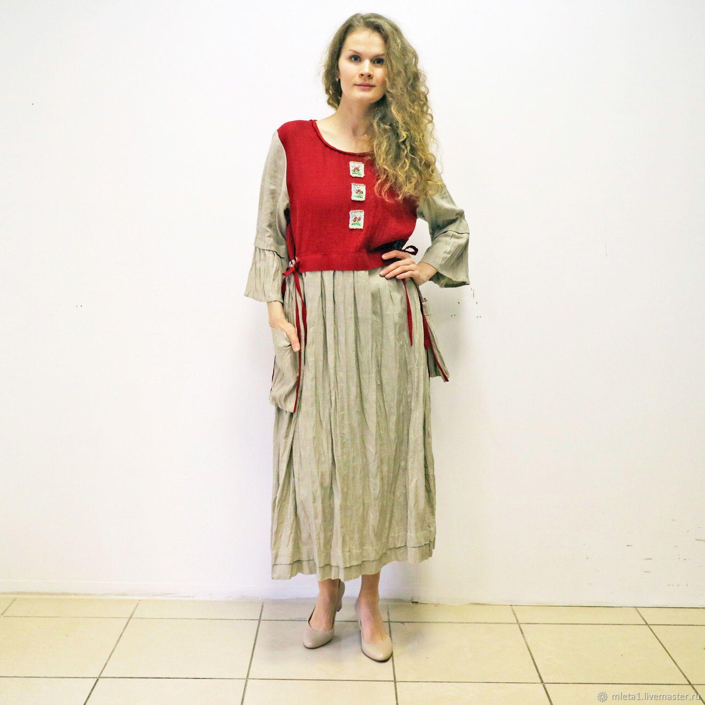9204b83fc0501a4 Платья ручной работы. Ярмарка Мастеров - ручная работа. Купить Платье  льняное с вышивкой.
