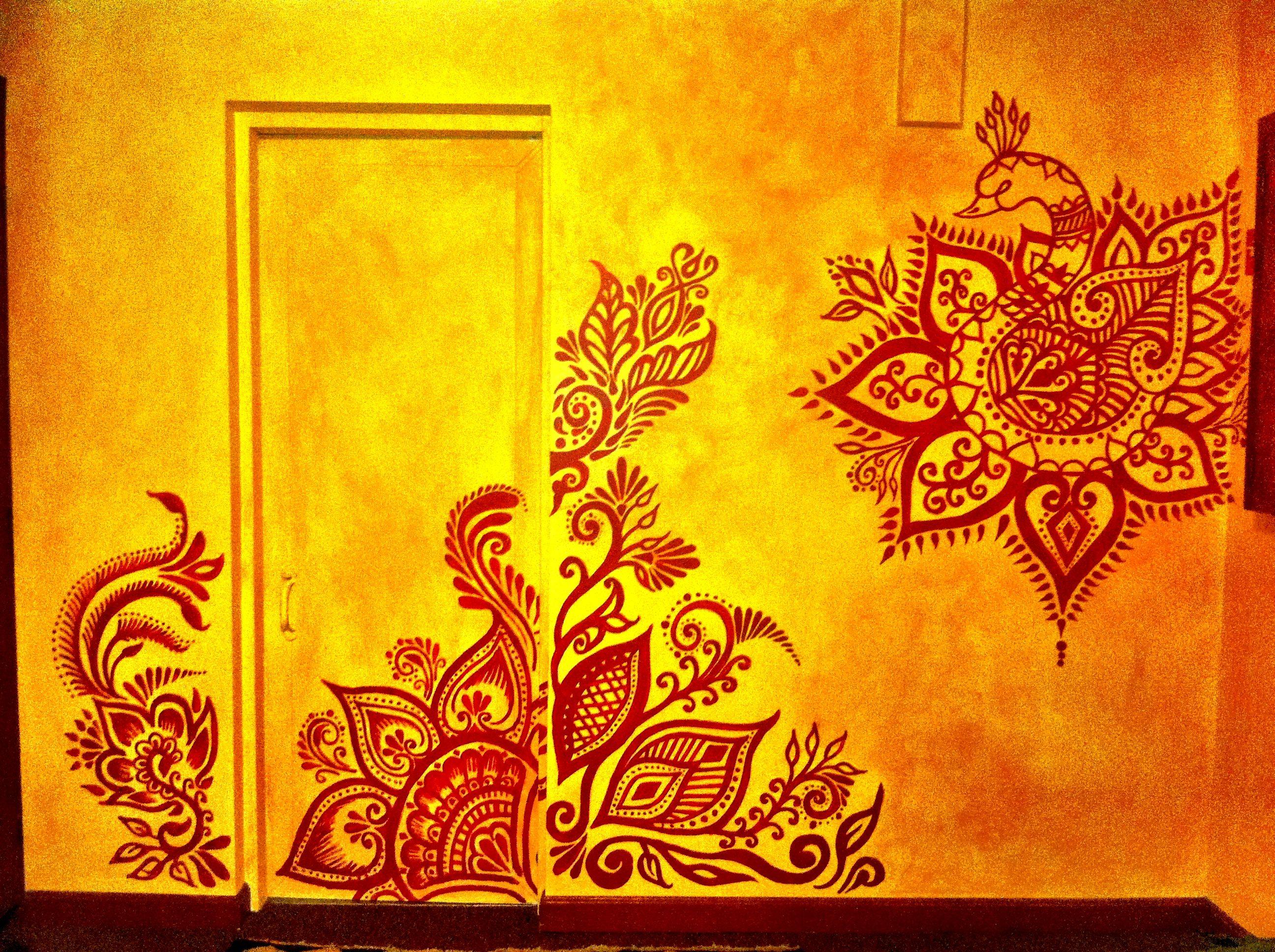 murals #interiors #wallart #homes #mehndi Mural by Mary Kearns www ...
