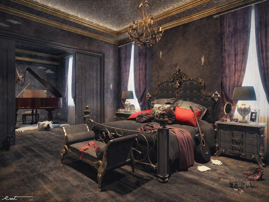 Elegant Gothic Home Decor: Bedroom, Gothic Bedroom Elegant Gothic Bedroom Freelancers