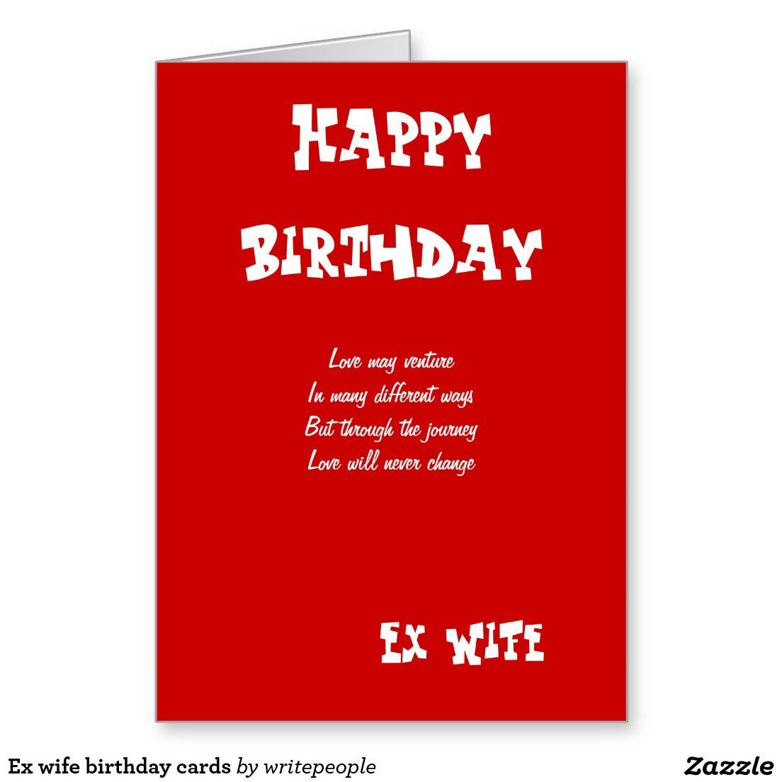 Ex Wife Birthday Cards