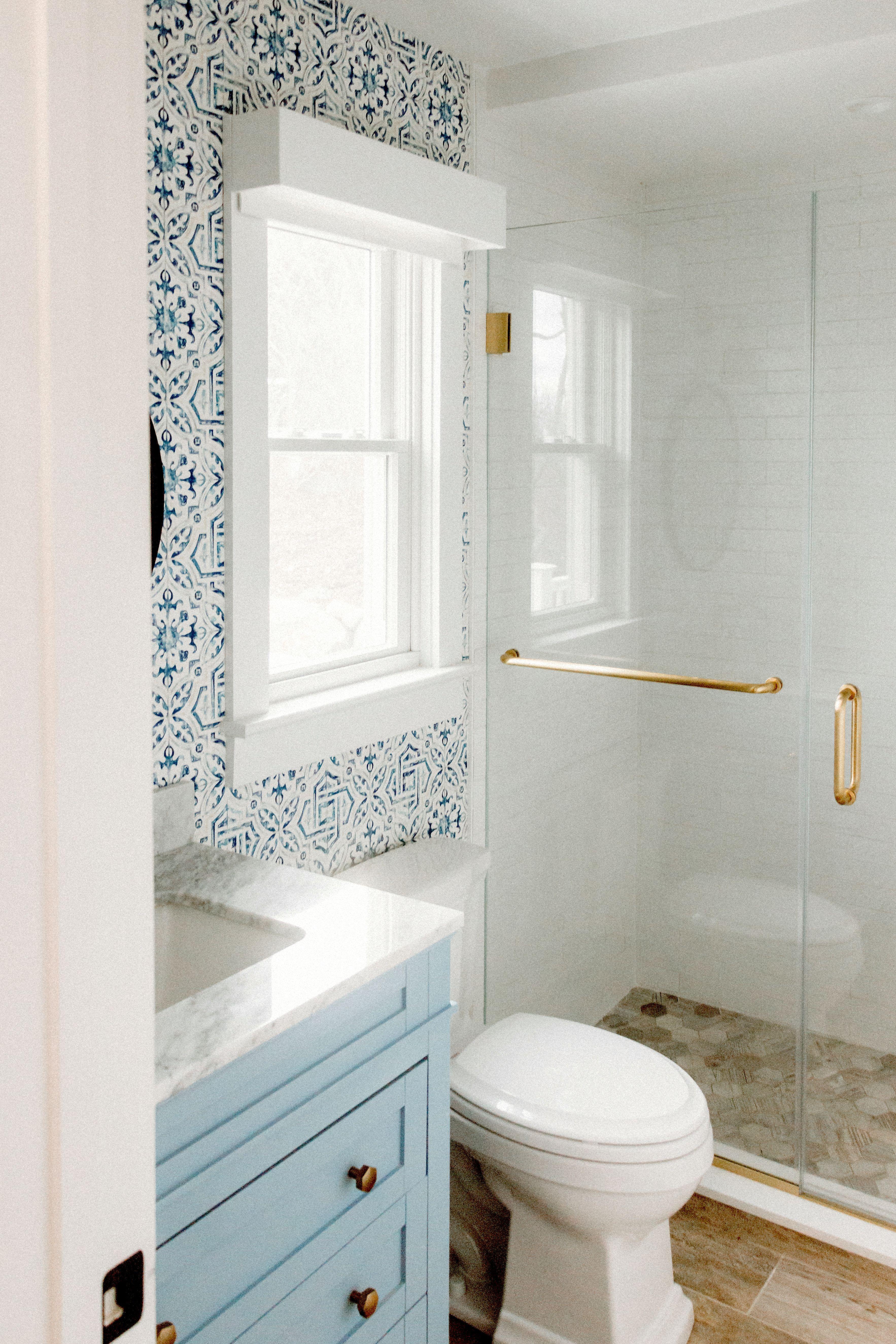 Modern Beach House Bathroom Beach House Bathroom Blue Modern Bathrooms House Bathroom