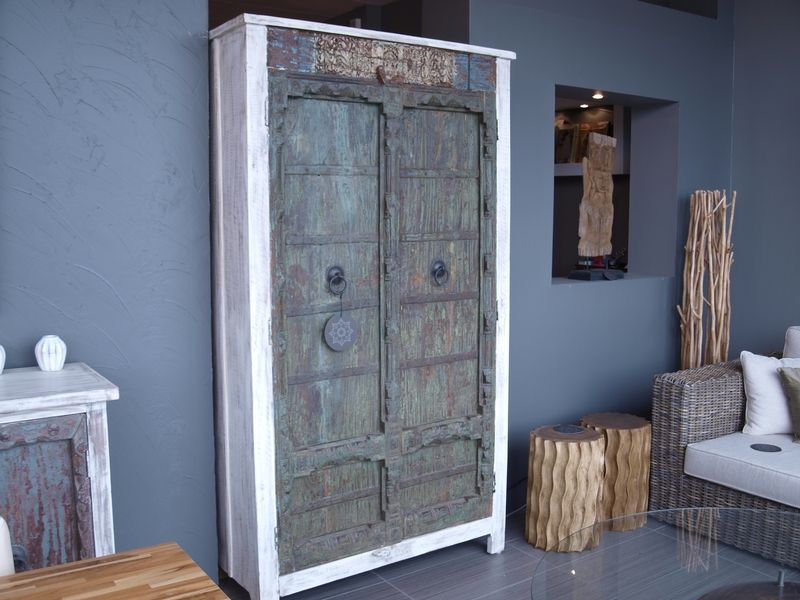 Armoire En Bois Recycle Avec Portes Antiques Artemano At Home Furniture Store Wood Dining Room Home Furniture