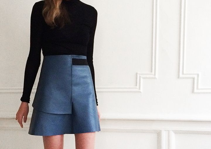 Leather #giveaway and a simple leather skirt #diy | DeSmitten ...
