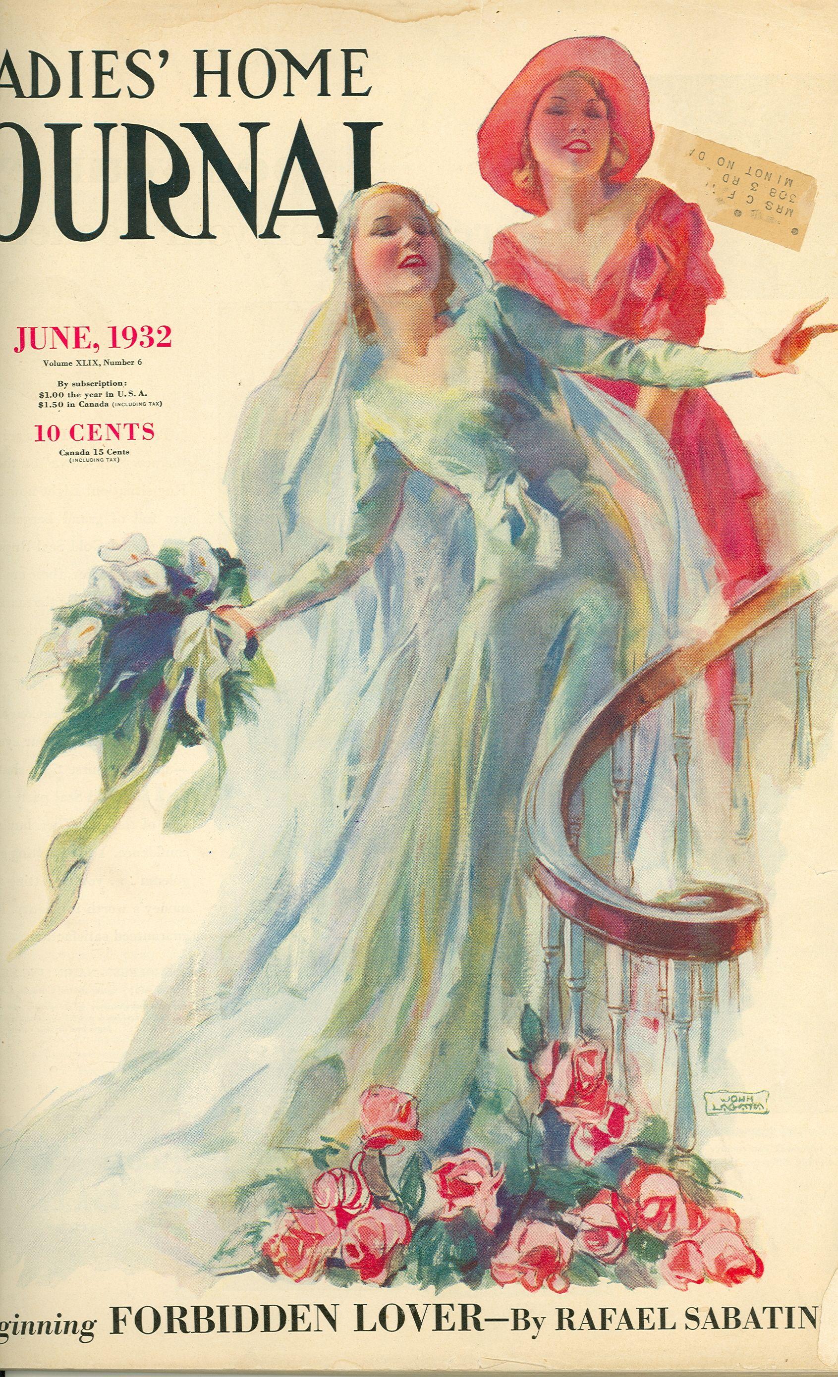 Ladies Home Journal Cover June 1932 Magazine Cover Vintage Illustration Vintage Magazine