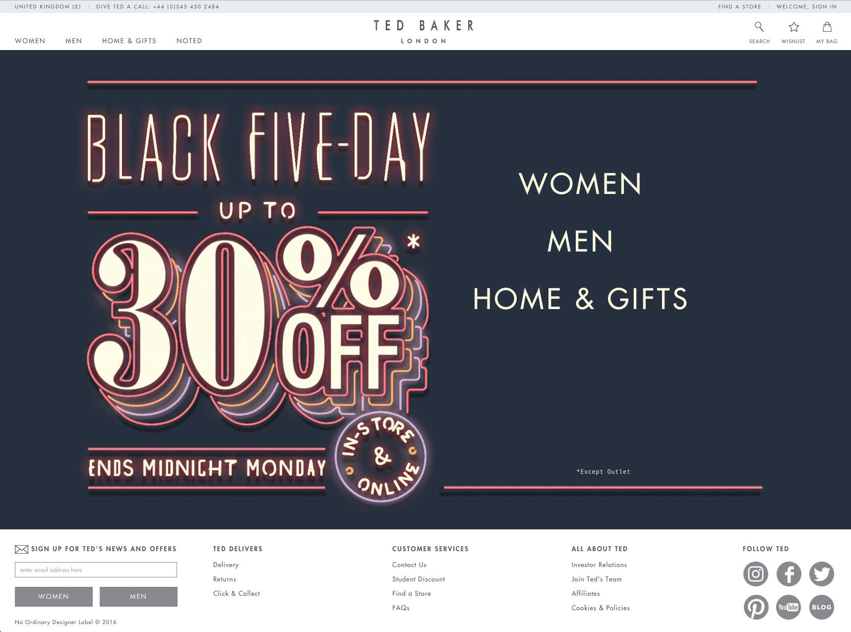 0eb61bef01256 ted baker homepage 2016 black friday