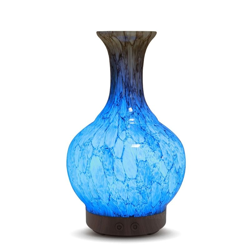 400ml Marble Pattern Electric Aroma Diffuser Ultrasonic Humidifier Aromatherapy