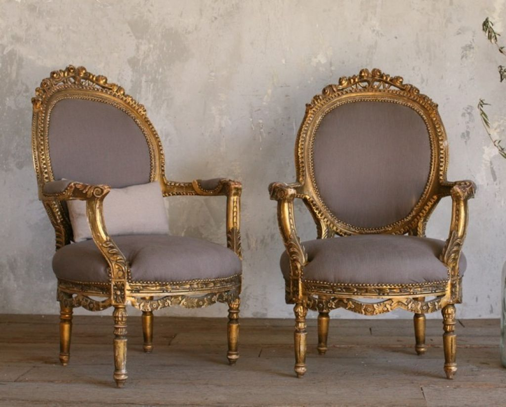 Grey Carved Antique French Chairs - Grey Carved Antique French Chairs Gray, French Furniture And