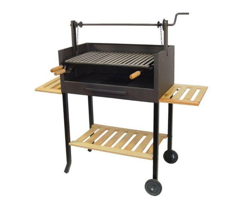 Barbecue argentin simple et pratique, grille inox en v avec