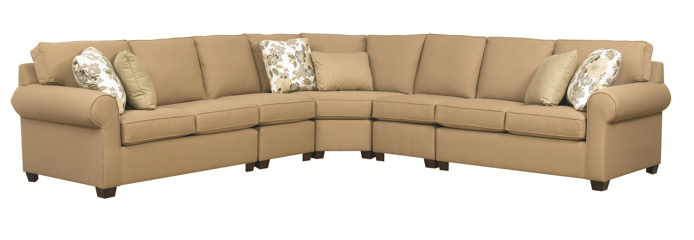 Best Brannon Five Piece Sectional Sofa With Rolled Arms By 400 x 300