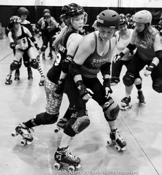 """When we learn to skate in roller derby we are often told """"get low."""" While this creates a very stable skating base, it is not a reactive or strong position."""