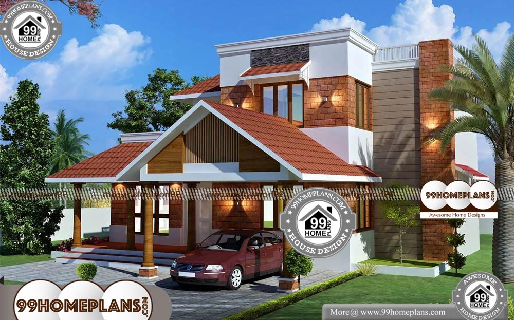 Residence Elevation Design With Two Storey Home Designs Collections Storey Homes House Design Indian Home Design