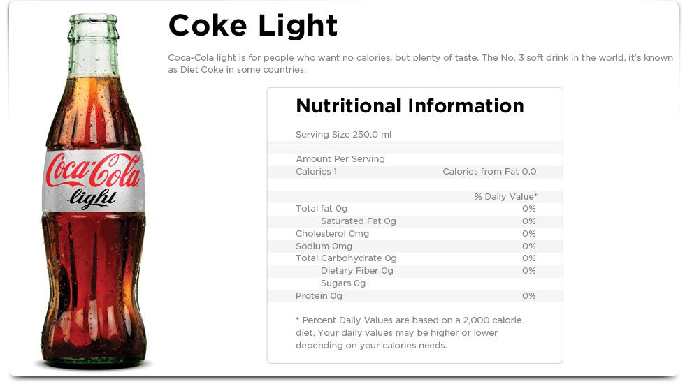 la coca cola light engorda