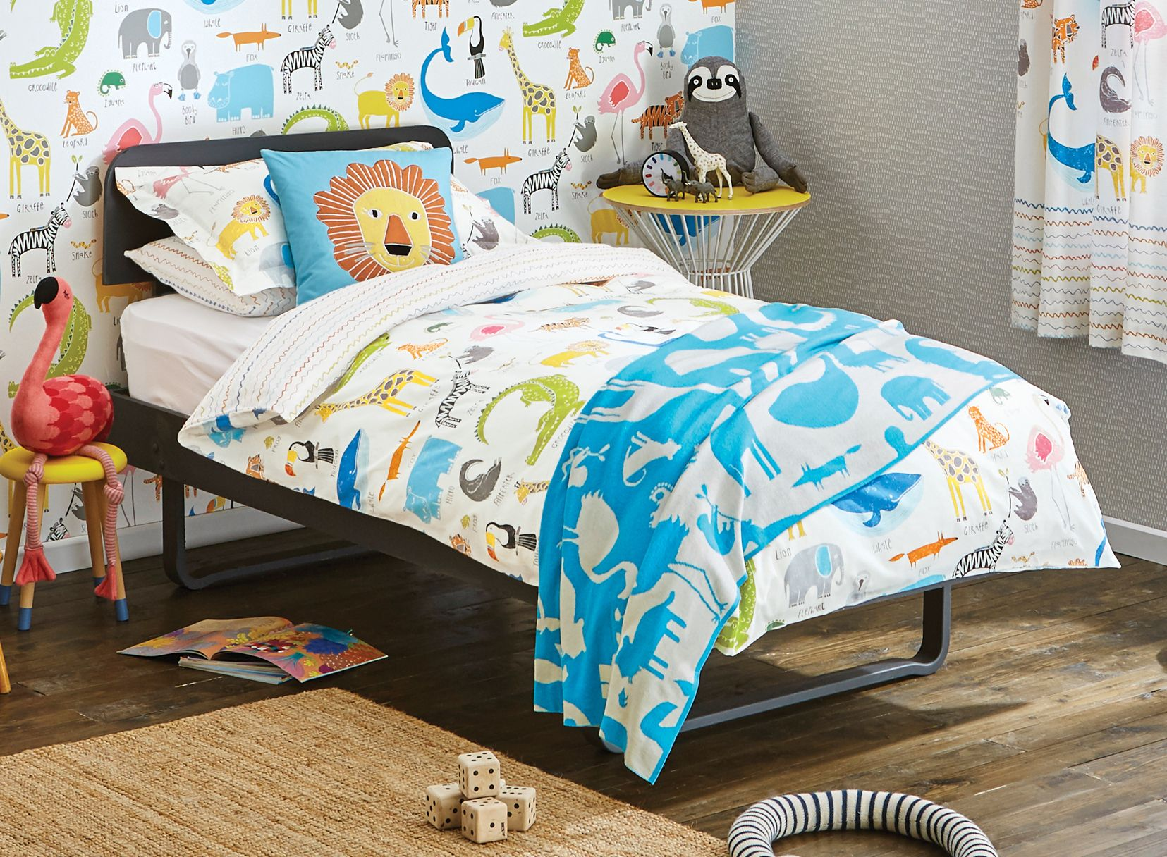 Cute animal magic bedding by scion jacobs room pinterest bed