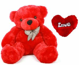 Red Teddy Bear 5 Feet, Get 50 Off On 5 Feet Red Teddy Bear With Heart Shape Pillow This Teddy Is Ideal Gift For Valentines Day Red Teddy Bear Soft Teddy Bear Teddy Bear
