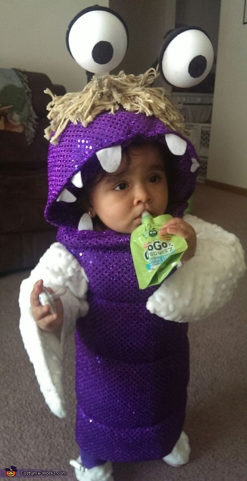 Amanda: My daughter is shown wearing her Boo costume I made. I literally hand…