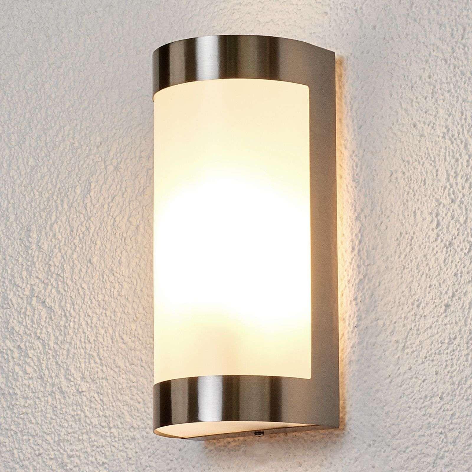 30 lm acier inoxydable extérieur Solaire Lampe Murale Extérieure Lampe Murale Wandstrahler