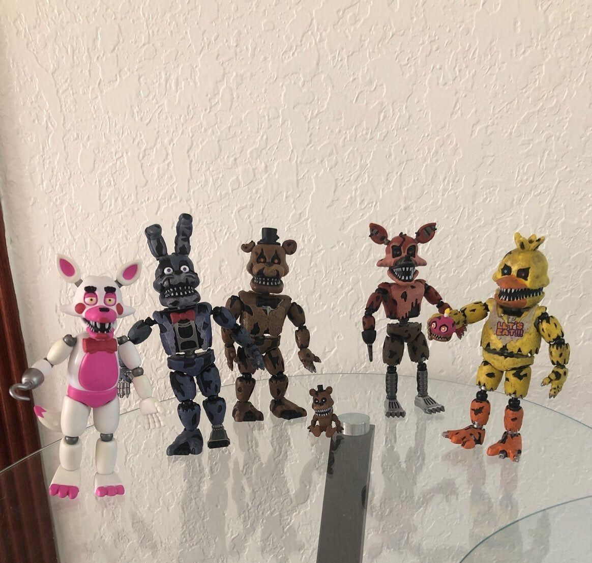 "Lot Of Collectible FNAF 5"" Articulated Figures. In"
