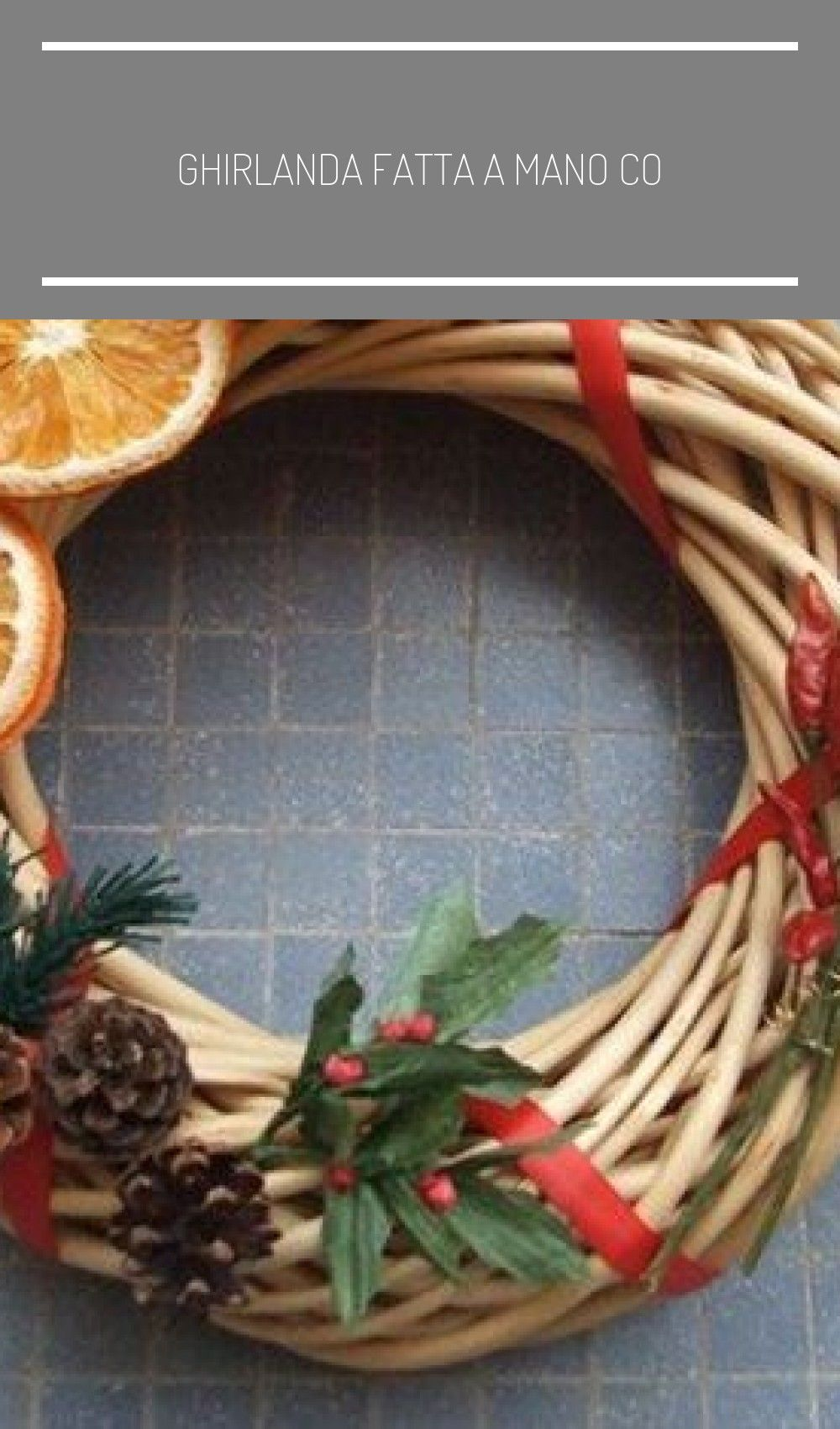 Photo of ghirlanda fatta a mano con arance essiccate per Natale #Christmas #wreath #faidate …