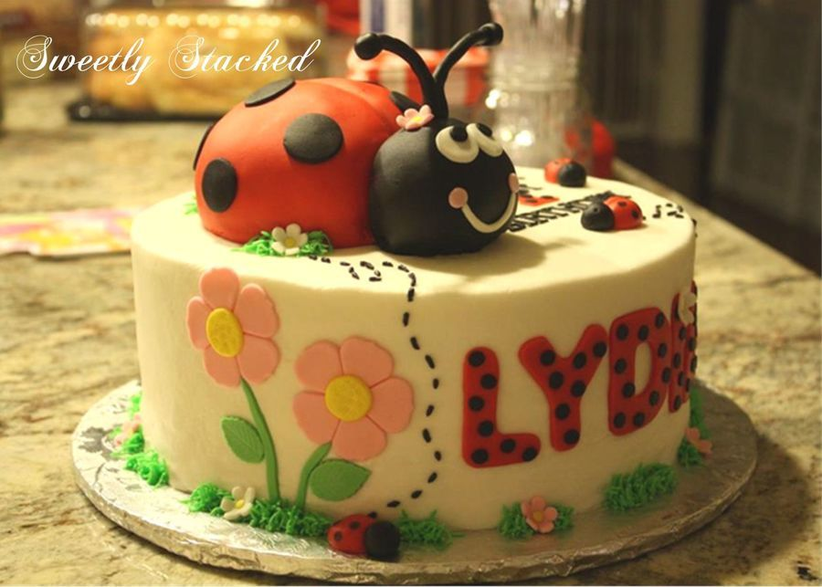 Ladybug First Birthday Cake Ladybug First Birthday Cake Love