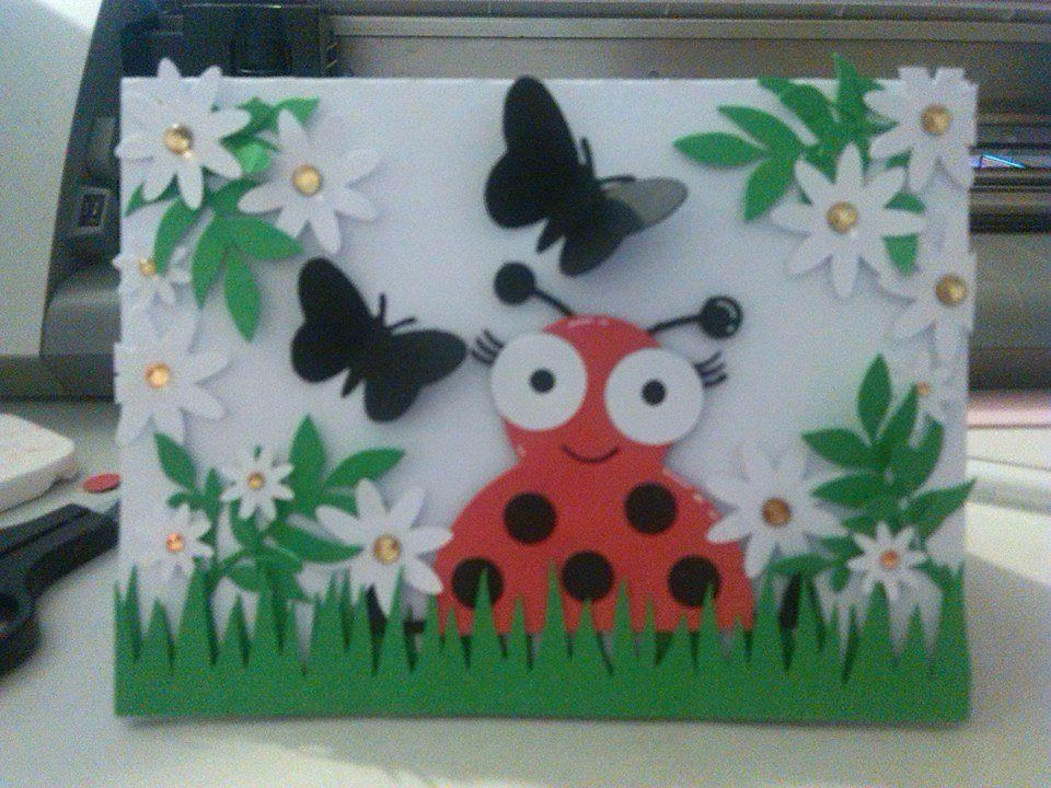Lady Bug using Miss Kate Cuttables SVG Cut file.
