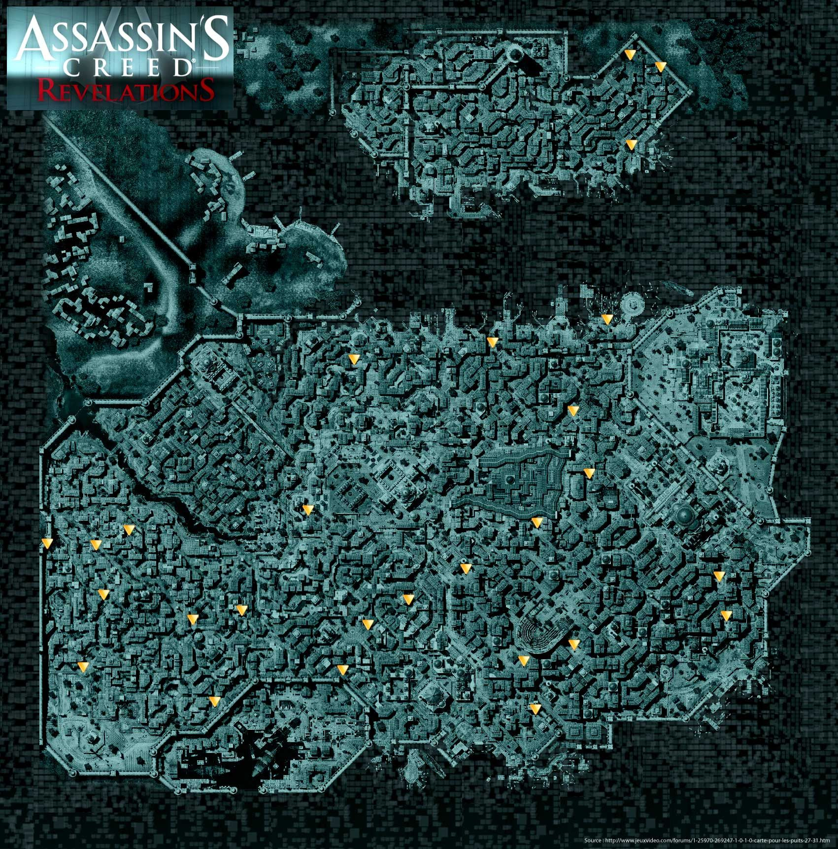 Assassin S Creed Revelations Well Map Assassins Creed