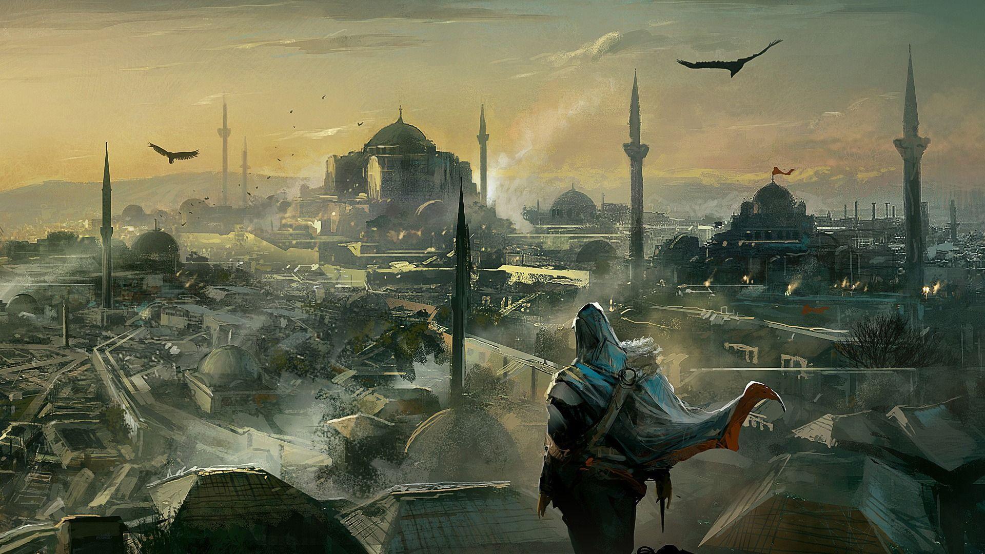 Assassins Creed Wallpaper 1080p: Assassins Creed Drawing 1080p HD Wallpaper Games