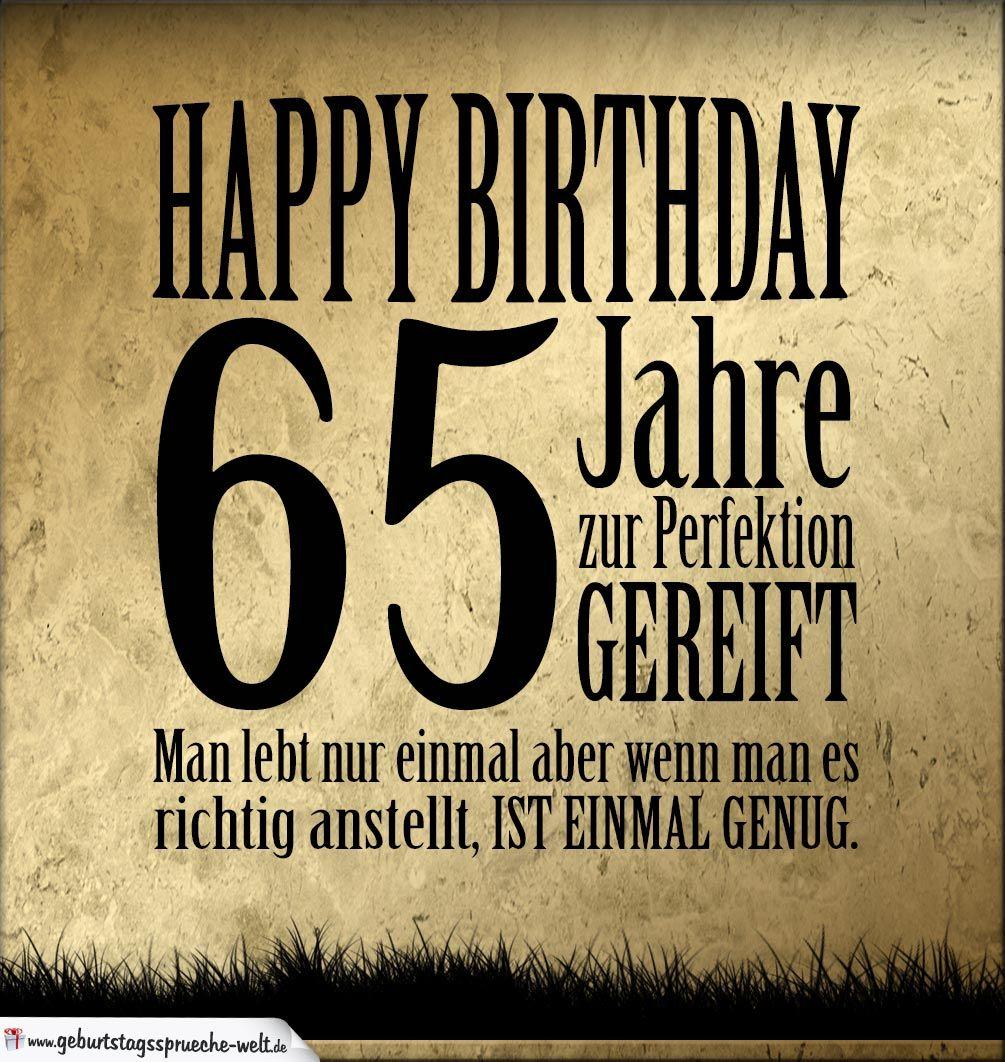 65 Geburtstag Retro Geburtstagskarte Geburtstagsspruche Welt