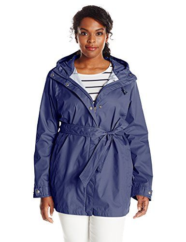 columbia womens pardon my trench rain jacket plus size nocturnal