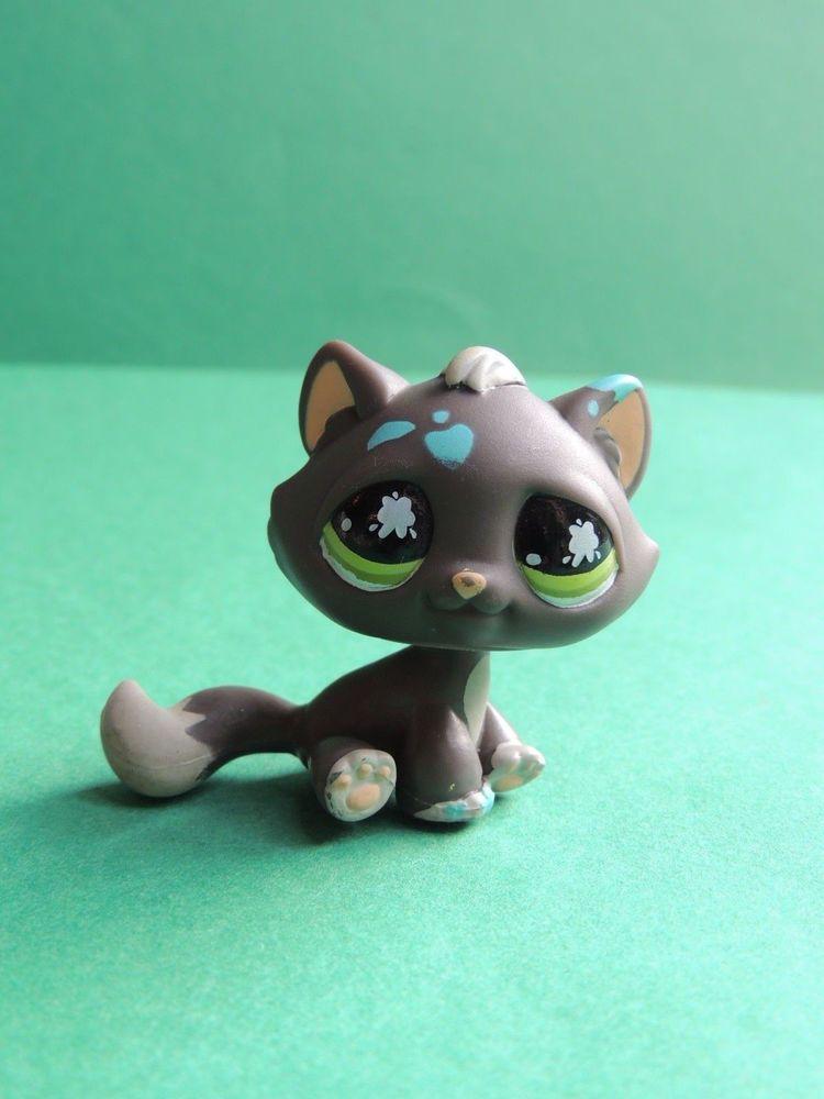 815 Chat De Gouttière Standard Grey Cat Lps Littlest Pet Shop