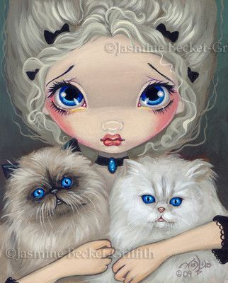 Two Fluffy Kitties - Jasmine Becket-Griffith.