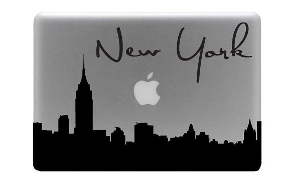 NYC Skyline Macbook Decal by Charminglcustoms on Etsy,
