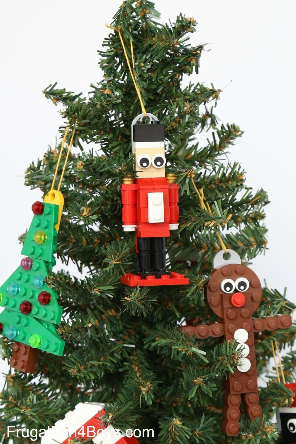 How To Build A Lego Nutcracker Christmas Ornament Frugal Fun For Boys And Girls Lego Christmas Ornaments Lego Christmas Tree Lego Christmas
