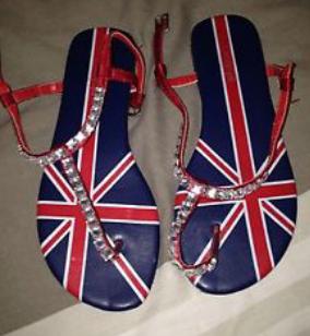 union jack thong sandals