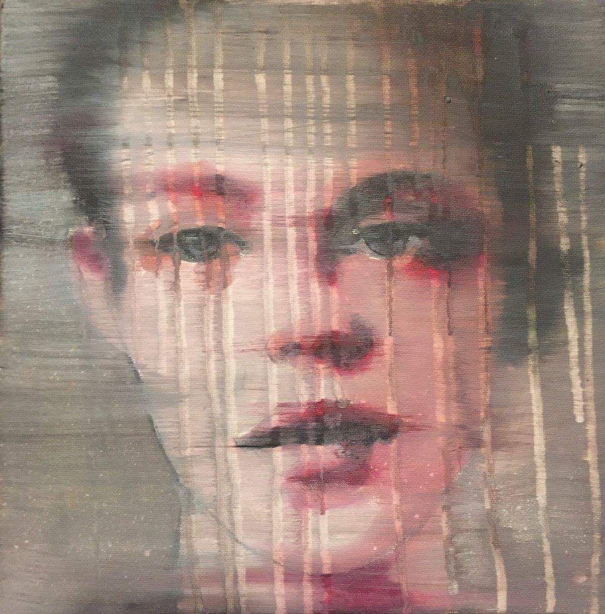 """Celine Achour """"Ève"""" 30x30 cm Painting, Artwork, Portrait"""