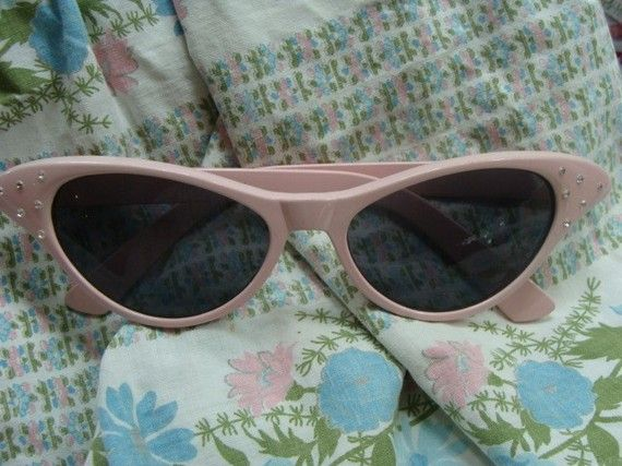 Vintage Pink Cat Eye Sunglasses Cat Eyeglasses I am Too Sexy For My Glasses